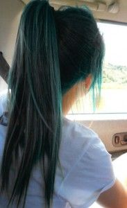 Coloration cheveux vert sapin