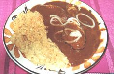 Receta de Mole Dulce con Sopa de Arroz - Las Recetas de La Abuela