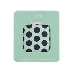 Printed backup battery for iPhone // J. Crew
