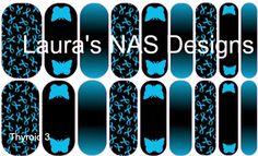 Thyroid 3  #NAS #Jamberry #NailArtStudio #NailArt #DIY #laurasnasdesigns