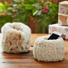 Faux Fur Beanbag Cell Phone Holder from PBteen. Saved to Things I want as gifts. Stocking Stuffers For Teens, Christmas Stocking Stuffers, Christmas Stockings, Pb Teen, Desk Accessories, Cell Phone Accessories, Home Design, Teen Bedding, Desktop Organization