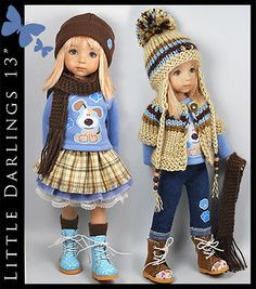 DOGGIE-Mix-Match-9-Piece-Outfit-for-Little-Darlings-Effner-13-by-Maggie-Kate. Ends 9/19/14. SOLD for $405.00.