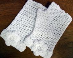 Fingerless Gloves Crocheted by Becky by CalicoCatQuilting on Etsy, $28.00