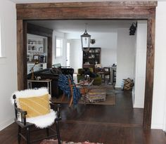 I love the look of exposed wood beams and the little punch of rustic that they give. But big, chunky, REAL, SOLID WOOD beams are not so wallet-friendly. As it always does, our renovation ran higher than we hoped and being thrifty is always a goal. So, real wood beams that were pretty and perfect …