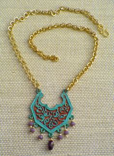 Moroccan Door Necklace by gwensofferjewelry on Etsy, $65.00