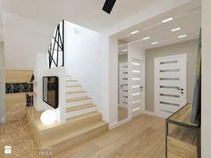 Dom 120 m2 pod Krakowem - Średni hol / przedpokój, styl nowoczesny - zdjęcie od INNers - architektura wnętrza
