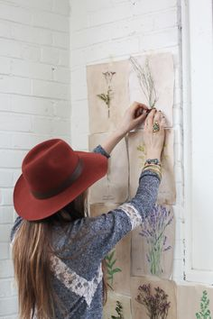 Decorating With Homemade Botanical Wallpaper | Free People Blog #freepeople