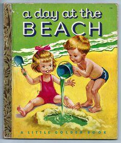 A Day at The Beach Vintage Little Golden Book 110 VG Malvern Art 1951 | eBay