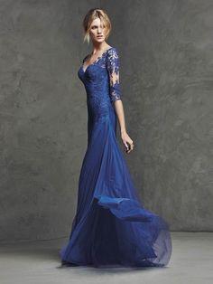 Pronovias Lasima Sz.14 Blue rushed netting  Original Price $972 SA Price $495