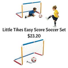 Amazon Lowest Price: Little Tikes Easy Score Soccer Set $23.20 Soccer Positions, College Soccer, Soccer Skills, Little Tikes, Extreme Couponing, Motor Skills, Scores, Houston, Kids Rugs