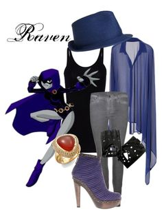 Raven from Teen Titans! Teen Titans Outfits, Batman Outfits, Cartoon Outfits, Teen Titans Go, Disney Outfits, Cute Outfits, Nerd Fashion, Fandom Fashion, Quirky Fashion