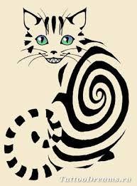 Картинки по запросу чеширский кот тату