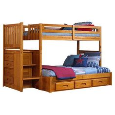 Discovery World Furniture Weston Twin over Full Bunk Bed Finish: Honey