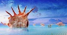 One of my favorite scenes of any movie.. the Pearl people of Planet Mul in 'Valerian'. They live on the ocean in giant shells and bathe in magical power pearls to rejuvenate and stay young. TAKE ME HOME!!! #valerian #pearlpeople #planetmul #ocean #shells #shell #fantasy #film #mermaidlife