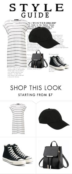 """""""Running late"""" by starringsarah ❤ liked on Polyvore featuring Hot Topic and Converse"""