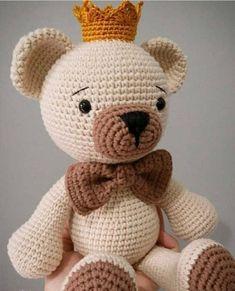 Crochet Bunny Pattern, Crochet Amigurumi Free Patterns, Crochet Teddy, Crochet Bear, Cute Crochet, Crochet Animals, Crochet Toys, Halloween Toys, Handmade Toys