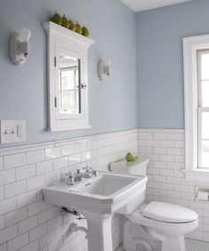 White wood panelling to make light blue bathroom more airy home wall colour light blue bathroom aloadofball Image collections