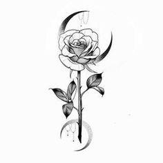 Mini Tattoos, Body Art Tattoos, Small Tattoos, Sleeve Tattoos, Floral Tattoo Design, Flower Tattoo Designs, Flower Tattoos, Tattoo Sketches, Tattoo Drawings