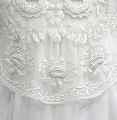 kinda a lost art today, but very beautiful.Nice to see it return for wedding dresses or special wear.