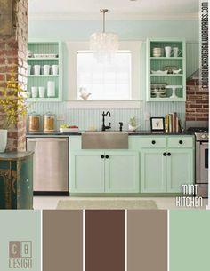 Mint Kitchen | Color Blocks Design
