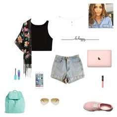"""""""be happy"""" by synclairel ❤ liked on Polyvore featuring American Apparel, Vans, Vera Bradley, NARS Cosmetics, Oliver Peoples, Tattly, Spring, cute, casual and ootd"""