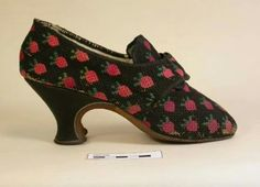 Shoes worked with strawberries 1760-1770   Photo:  Hampshire City Council museum