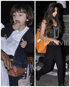 AbRam and Suhana return from Hyderabad after a quick rendezvous with dad SRK Shahrukh Khan Family, Abram Khan, Mumbai Airport, Shraddha Kapoor, Hyderabad, Bollywood, Display Pictures, Dads, Celebs