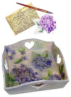 I was tagged by Design it Chic a few days ago, but with projects and one last final coming up, hadn't had the time to play along. Decoupage Furniture, Decoupage Box, Decoupage Vintage, Diy And Crafts, Arts And Crafts, Paper Crafts, Craft Projects, Projects To Try, Painted Trays