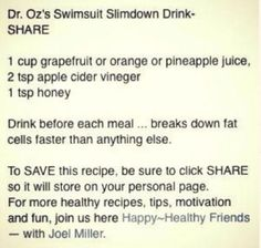 Slim Down Drink! Lose 10 Pounds In A Week