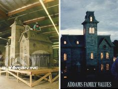 The making of the mansion model in The Addams Family Values.