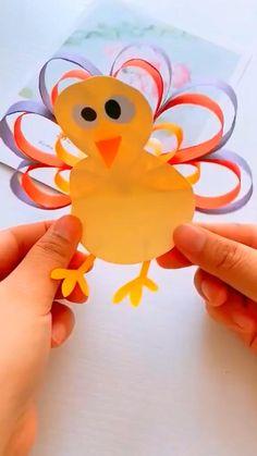 Paper Flowers Craft, Paper Crafts Origami, Paper Crafts For Kids, Flower Crafts, Fun Crafts, Thanksgiving Crafts, Easter Crafts, Thanksgiving 2020, Toddler Crafts