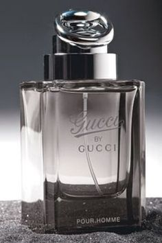 Gucci by Gucci Pour Homme. The perfume is characterized as a modern chypre woody and includes notes of bergamot, cypress and violet in the top, the heart containing tobacco leaves and jasmine and the base notes consisting of patchouli, amber and Elemi – incense which is not derived from wood. When combined with tobacco leaves, Elemi contributes to intensity and longevity of a fragrance.