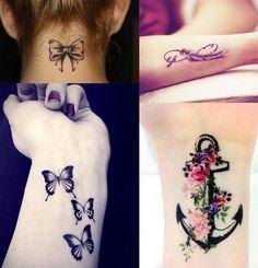 Se siete alla ricerca di qualche idea per un piccolo tatuaggio femminile ecco a voi 30 foto dalle quali farsi ispirare! L'Infinito, la Farfalla, la Piuma,
