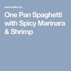 One Pan Spaghetti with Spicy Marinara & Shrimp