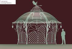 Gazebo, Pergola, Metal Art Projects, Environment Concept, Classical Architecture, Rococo, Pavilion, Art Nouveau, Garden Design