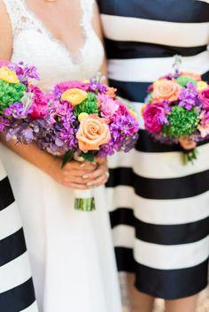 Beautiful spring bridal bouquets   #peachranunculus #ranunculus #hotpinkgardenrose #gardenrose #coralrose #purplestock #yellowbillyballs #lavendarhydrangea #hydrangea #PinkFreesia #freesia #dianthus #greentrickdianthus #weddingflowers #florist #florals #katespade