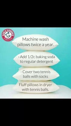 Cleaning/washing Pillows