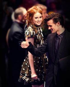 Karen and Matt <3 AND I LYDIA RIEHN BOUGHT BACK STAGE PASSES TO SEE MATT SMITH IN 20 DAYS!!!!!!