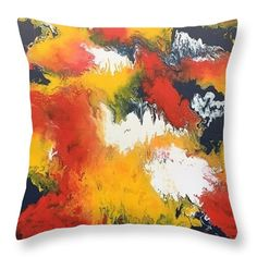 Abstract Throw Pillow for Sale by Kelly Goss