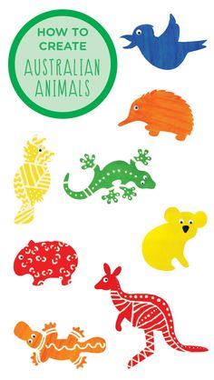 Australian Animal Shapes. Paint and decorate! Great for NAIDOC Week More