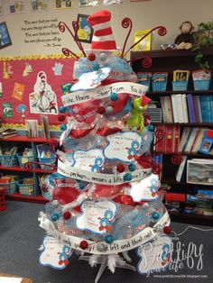 Dr. Seuss Tree for classroom.  It was so much fun to decorate! - Prettify Your Life Blog