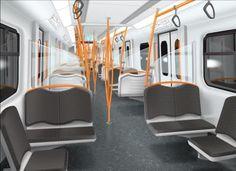 Transportation Technology, Transportation Design, Mode Of Transport, Public Transport, Bus Interior, Interior Design, Light Rail, Interior Concept, Dream City