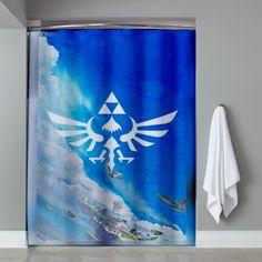 Cheap Legend Of Zelda Triforce Shower Curtain
