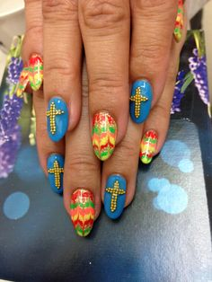 Mexican art. Gel nails!