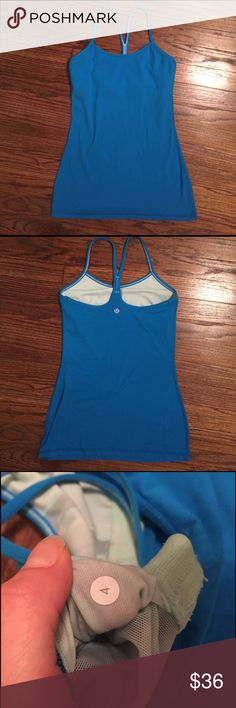 Lululemon Power Y tank Gently used tank. Washed only with cold water, no detergent, no piling- excellent condition. Bra inserts not included but you can usually get some upon request in a Lulu store. These are my favorite workout tanks, this color is just not for me lululemon athletica Tops Tank Tops
