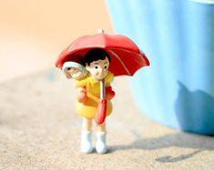 1pc Anime Movie Hayao Miyazaki Totoro May micro fairy garden miniatures decor mini figurine action figures terrarium dolls