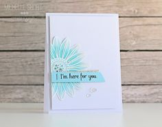 CAS card - images stamped with Versamark and heat embossed in white - bjl