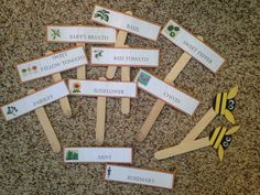 Garden Planter Name Plates by ScrapAtItDesigns on Etsy