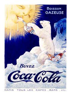 Affiches anciennes coca cola Coca Cola Poster, Coca Cola Polar Bear, Vintage Advertisements, Vintage Ads, Vintage Posters, Unique Vintage, Vintage Signs, Coca Cola Bottles, Pepsi Cola