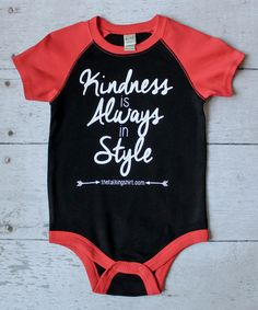 Look what I found on #zulily! Black & Red 'Kindness is Always In Style' Bodysuit - Infant #zulilyfinds